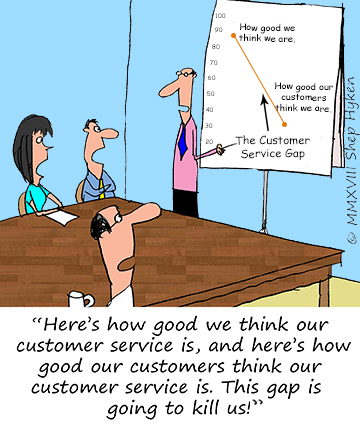 The Customer Service Gap - Shep Hyken | Shep Hyken