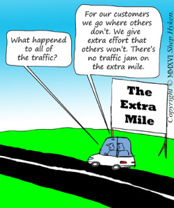 No Traffic Jam on the Extra Mile
