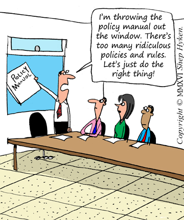Policy Manual Out the WIndow