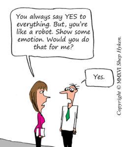 Robotic CS Saying Yes
