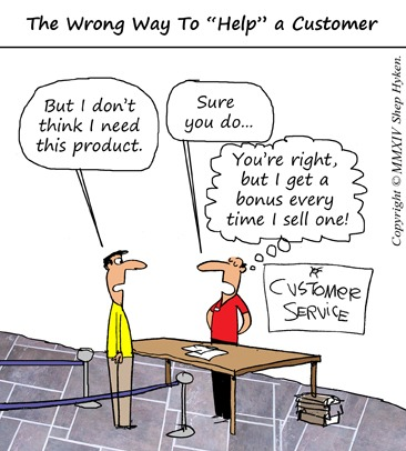 The Wrong Way to Help a Customer - Low Res